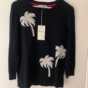 Tommy Bahama Hand Embroidered Palm Sweater